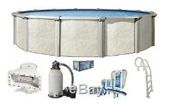 Above Ground FALLSTON Swimming Pool with Liner, Filter System, In-Pool Ladder Kit