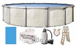 Above Ground FALLSTON Swimming Pool with Liner, Ladder, Filter Kit (Choose Size)