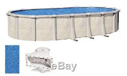 Above Ground Oval 54 Wall Swimming Pool with Sunlight Overlap Liner & Skimmer