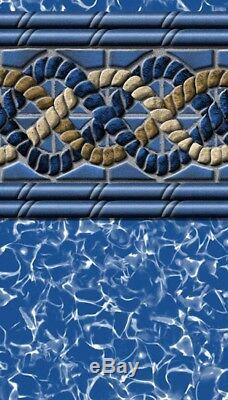 Above Ground Pool Liner South Beach Beaded ALL SIZES Round&Oval 48 Inch&52 Inc