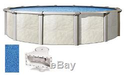 Above Ground Round 54 Wall Swimming Pool with Sunlight Overlap Liner & Skimmer