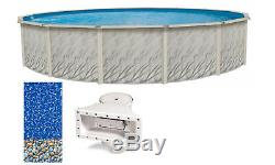 Above Ground Round MEADOWS Steel Wall Swimming Pool with Bedrock Liner