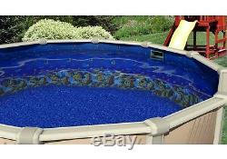 Above Ground Round MEADOWS Steel Wall Swimming Pool with Caribbean Liner