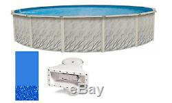Above Ground Round MEADOWS Steel Wall Swimming Pool with Swirl Bottom Liner