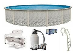 Above Ground Round MEADOWS Swimming Pool with Liner, In-Pool Ladder & Sand Filter