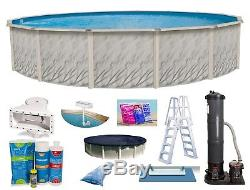 Above Ground Round Meadows Swimming Pool with Liner, Filter & Ladder Accessory Kit