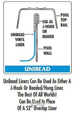 Above Ground Stone Harbor 20 Gauge Swimming Pool Unibead Liners with Gasket Kit