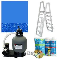 Above-Ground Swimming Pool Kit withSand Filter, Ladder & Swirl Bottom Liner