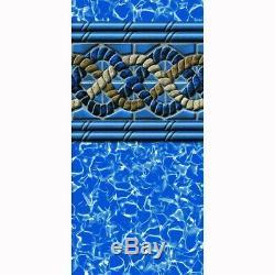 Above Ground Swimming Pool Liner Vinyl 27 ft. Round 54 in. Uni-Bead Mystri Gold
