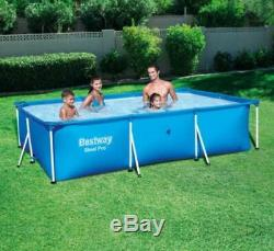 Above Ground Swimming Pool Rectangular Liner Frame Garden Yard Play Swim Float
