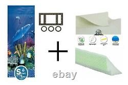 Antilles 25 Gauge Above Ground Swimming Pool Overlap Liner with Pad & Cove Kit