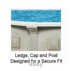 Aquarian 21' x 52 Pools Above Ground Pool Kit with Liner, Skimmer, & Ladder