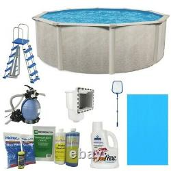 Aquarian Phoenix 15ft x 52in Above Ground Swimming Pool withPump and Pool Ladder