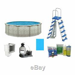 Aquarian Pools 24ft x 52in Above Ground Swimming Pool with Liner and Skimmer