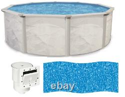 Argentina 15' x 48 Round Above Ground Swimming Pool and Liner