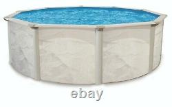 Argentina 21' x 48 Round Above Ground Swimming Pool and Liner