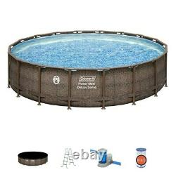 Atlanta Local Pickup Coleman 18ft x 48in Power Steel Deluxe Above Ground Pool