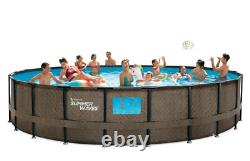 BRAND NEW Summer Waves 22 ft Crystal Vue Elite Frame Round Pool with 4 Windows