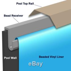 Beaded 24' Round Boulder Swirl 52 in. Depth Above Ground Pool Liner, 20 Mil