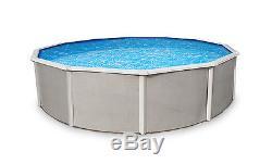Belize 21' Round 52 Above Ground Pool withLiner, Filter, Cleaner, Ladder & More