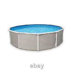 Belize 24' x 52 Round Above Ground Swimming Pool and Liner