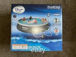 Bestway 13ft x 33in Fast Set Pool Swimming Pool with Filter & Filter Pump NEW