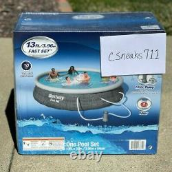 Bestway 13ft x 33in Inflatable Above Ground Swimming Pool with 530 GPH Filter Pump