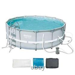 Bestway 14' x 48 Power Steel Frame Above Ground Pool Set 56445E (Open Box)