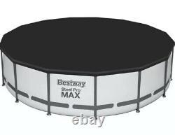 Bestway 15' x 42 Round Steel Pro MAX Above Ground Swimming Pool Set with Pump