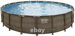Bestway Coleman 20x48 Power Steel Deluxe Series Swimming Pool Set Above Ground