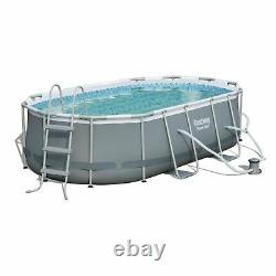 Bestway Oval Swimming Pool 14'x8'2x39.5 withLadder & Pump Brand New