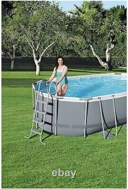 Bestway Power Steel 18' x 9' x 4' Swimming Pool Set with Pump Ladder & Cover! NEW