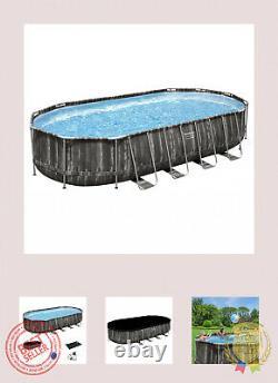 Bestway Power Steel 22 x 12 x 48 Above Ground Oval Pool Set