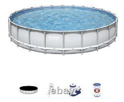 Bestway Power Steel 24' x 52 Frame Swimming Pool Set With Pump & Ladder BRAND NEW