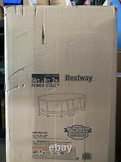 Bestway Power Steel Oval Frame Swimming Pool 14' x 8' 2 & 39.5 Deep (In Hand)