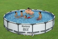 Bestway Pro MAX Above Ground Pool Steel Frame Round Swimming Pool Set + pump