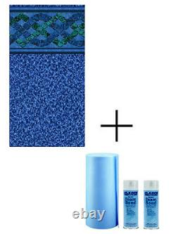 Blanchard 34 Gauge In-ground Swimming Pool Liner with Wall Foam (Choose Size)