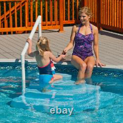 Blue Wave Above Ground Swimming Pool Wedding Cake Step with Liner Step Pad NE100BL