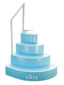 Blue Wave Blue Wedding Cake Steps for Above Ground Swimming Pools with Liner Pad