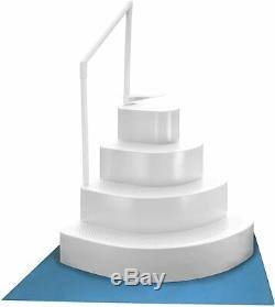 Blue Wave NE110WH Wedding Cake Above Ground Pool Step with Liner Pad, White