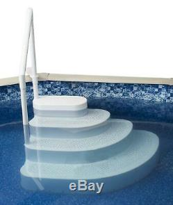 Blue Wave Wedding Cake Step W Liner Pad Above Ground Pool Ladder Steps White New
