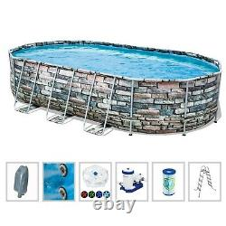 Brand New Bestway Power Steel 20 x 12 x 48 Above Ground Oval Pool Set