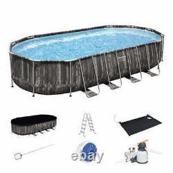 Brand New Bestway Power Steel 22 x 12 x 48 Above Ground Oval Pool Set
