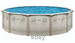 Brazil 24' x 52 Round Above Ground Swimming Pool Premium Package