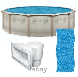 Brazil 24' x 52 Round Above Ground Swimming Pool and Liner