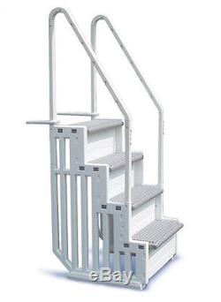 CONFER STEP-1 Above Ground Swimming Pool Ladder Step System Entry with Liner Pad