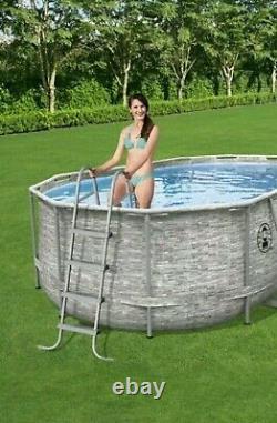 Coleman 16' x 10' x 48 Steel Frame Complete Set Swimming Pool + Ladder & Pump
