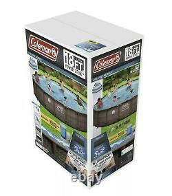 Coleman 18 x 48 Steel Frame Deluxe Round Above Ground Pool FLORIDA PICKUP
