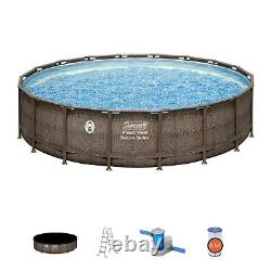 Coleman 18ft x 48in Above Ground Swimming Pool With Pump, Ladder, & Pool Cover