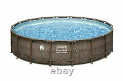 Coleman 18ft x 48in Power Steel Deluxe Above Ground Swimming Pool FREE Pickup OH